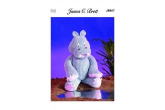 James C Brett 457 Hippo in Flutterby Chunky (leaflet)