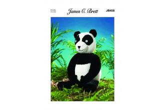 James C Brett 458 Panda in Flutterby Chunky (leaflet)