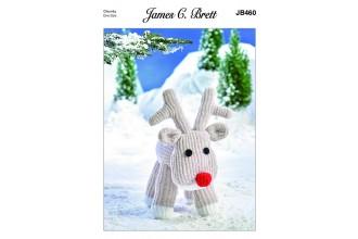 James C Brett 460 Rudolph in Flutterby Chunky (leaflet)
