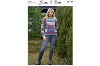James C Brett 497 Sweater in Marble Chunky (leaflet)