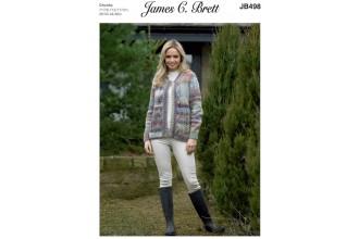 James C Brett 498 Jacket in Marble Chunky (leaflet)