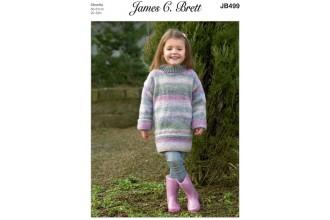James C Brett 499 Sweater in Marble Chunky (leaflet)