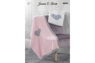 James C Brett 525 Blankets in Flutterby Chunky (leaflet)