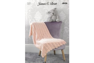 James C Brett 526 Teddy and Blanket in Flutterby Chunky (leaflet)