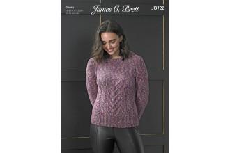 James C Brett 722 Sweater in Masquerade Chunky (leaflet)