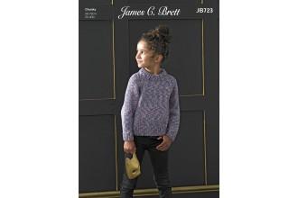 James C Brett 723 Sweater in Masquerade Chunky (leaflet)