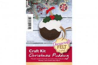 Decracraft Felt Craft Kit - Christmas Pudding