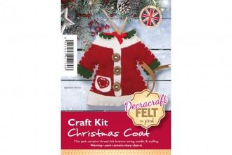 Decracraft Felt Craft Kit - Christmas Coat