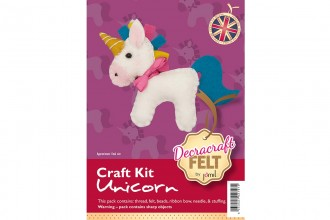 Decracraft Felt Craft Kit - Unicorn