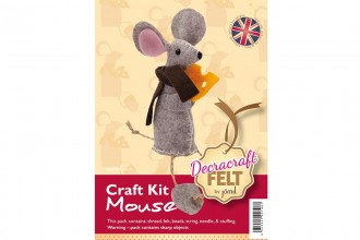 Decracraft Felt Craft Kit - Mouse with Cheese