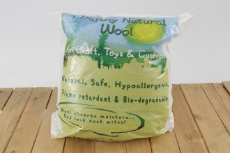 Healthy Natural Wool Craft Filling / Stuffing for Toys & Cushions (250g)