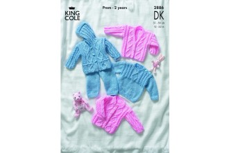 King Cole 2886 Sweater, Jacket, Trousers and Cardigan in DK (leaflet)