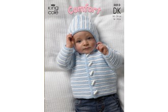 King Cole 3013 Baby Jacket, Sweater and Body Warmer in Comfort DK (leaflet)