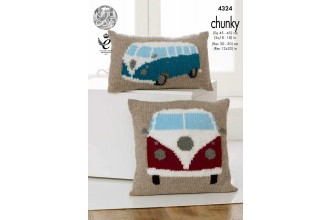 King Cole 4324 Camper Van Cushions in Big Value Chunky (leaflet)