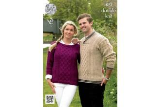 King Cole 4373 Sweaters in Merino Blend DK (leaflet)
