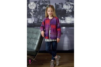 King Cole 4377 Cardigan and Top in Shine DK  (leaflet)