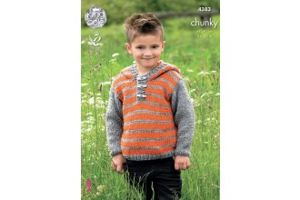 King Cole 4383 Hoodie and Gilet in Big Value Chunky (leaflet)
