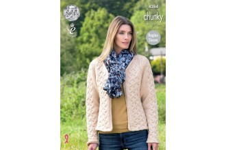 King Cole 4384 Ladies Waistcoat and Jacket in Big Value Chunky (leaflet)