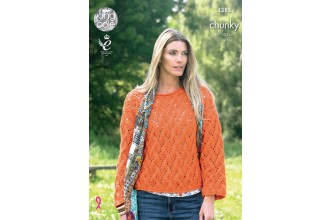 King Cole 4385 Ladies Polo Neck and Sweater in Big Value Chunky (leaflet)