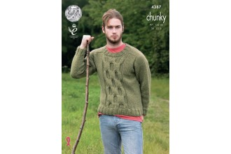 King Cole 4387 Mens Sweater and Pullover in Big Value Chunky (leaflet)