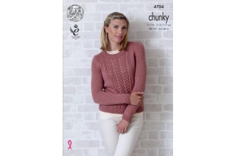 King Cole 4704 Ladies Cardigan and Sweater in Big Value Chunky (leaflet)