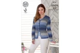 King Cole 4725 Sweater and Cardigan in Shine DK (leaflet)