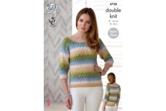 King Cole 4728 Sweater and Top in Shine DK (leaflet)