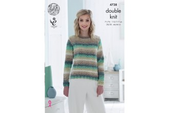 King Cole 4738 Slipover and Sweater in Shine DK (leaflet)
