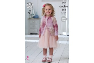 King Cole 4739 Cardigan and Top in Shine DK (leaflet)
