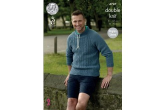 King Cole 4747 Mens Sweater in Merino Blend DK (leaflet)