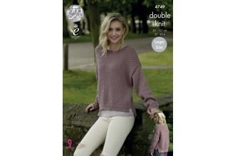 King Cole 4749 Sweaters in Merino Blend DK (leaflet)