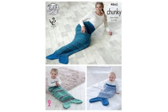 King Cole 4865 Mermaid Blankets in Big Value Chunky (leaflet)