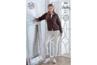 King Cole 4985 Cardigans in Big Value Chunky (leaflet)