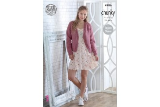 King Cole 4986 Cardigans in Big Value Chunky (leaflet)