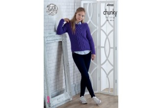 King Cole 4988 Sweater and Slipover in Big Value Chunky (leaflet)