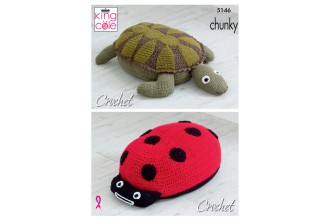 King Cole 5146 Ladybird & Turtle Poof in Big Value CHunky (leaflet)