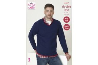 King Cole 5259 Mens Sweaters in Big Value DK 50g (leaflet)