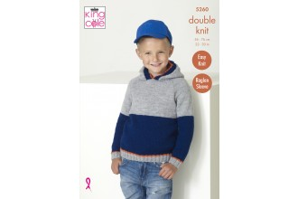 King Cole 5260 Sweater and Hoodie in Big Value DK 50g (leaflet)