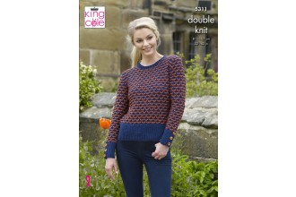 King Cole 5311 Cardigan and Sweater in Merino Blend DK (leaflet)