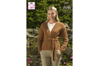 King Cole 5321 Cardigan in Big Value Chunky (leaflet)