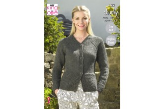 King Cole 5322 Cardigan and Sweater in Big Value Chunky (leaflet)