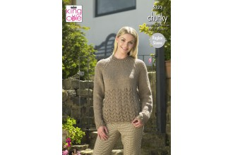 King Cole 5323 Sweater, Hat, Scarf and Cowl in Big Value Chunky (leaflet)