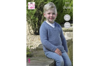 King Cole 5324 Sweaters in Big Value Chunky (leaflet)