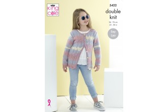 King Cole 5422 Cardigans in Beaches DK (leaflet)