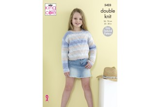 King Cole 5423 Sweaters in Beaches DK (leaflet)