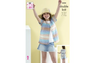 King Cole 5424 Cardigans in Beaches DK (leaflet)