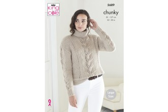 King Cole 5689 Ladies Sweaters in Ultra Soft Chunky (leaflet)