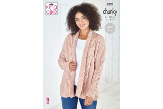 King Cole 5821 Ladies Jacket & Sweater in Big Value Chunky (leaflet)