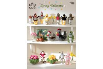 King Cole 9000 Spring Collection in DK (leaflet)