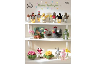 King Cole 9000 Spring Collection in DK (downloadable PDF)